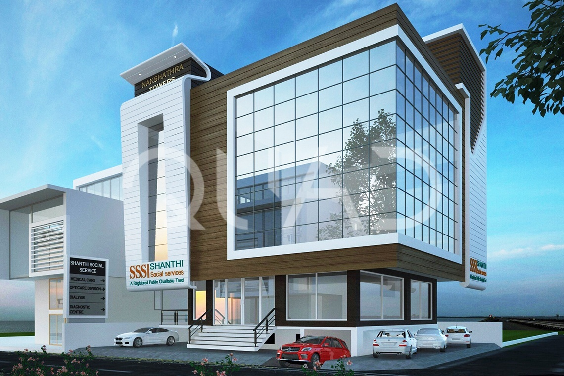 Quad Designs | Mr.Manokar Commercial Complex